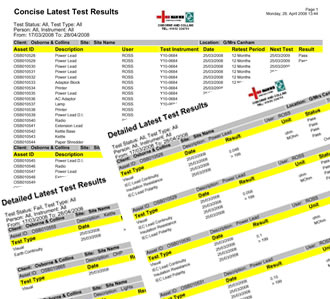 Portable Appliance Testing Reports - Detailed & Summary PAT Test Reports including reports for PAT Test faults